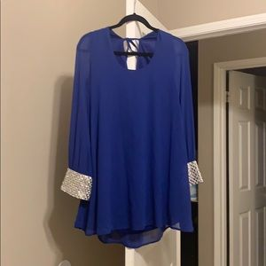 Royal Blue & Jewel Windsor Dress Size M